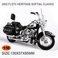 Modelos de motocicletas HD2002 HERITAGE SOFTAIL flstc 1980 FLF TURNÊ GLIDE1: 18 escala Liga Pesada motocicleta de Brinquedo Para O Presente Coleção