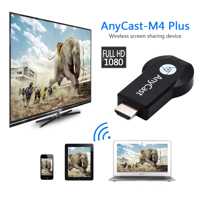 Full HD1080P HDMI Anycast Chromecast Miracast DLNA Airplay m4plus TV Stick WiFi Display Receiver Dongle Support Windows Andriod(China)