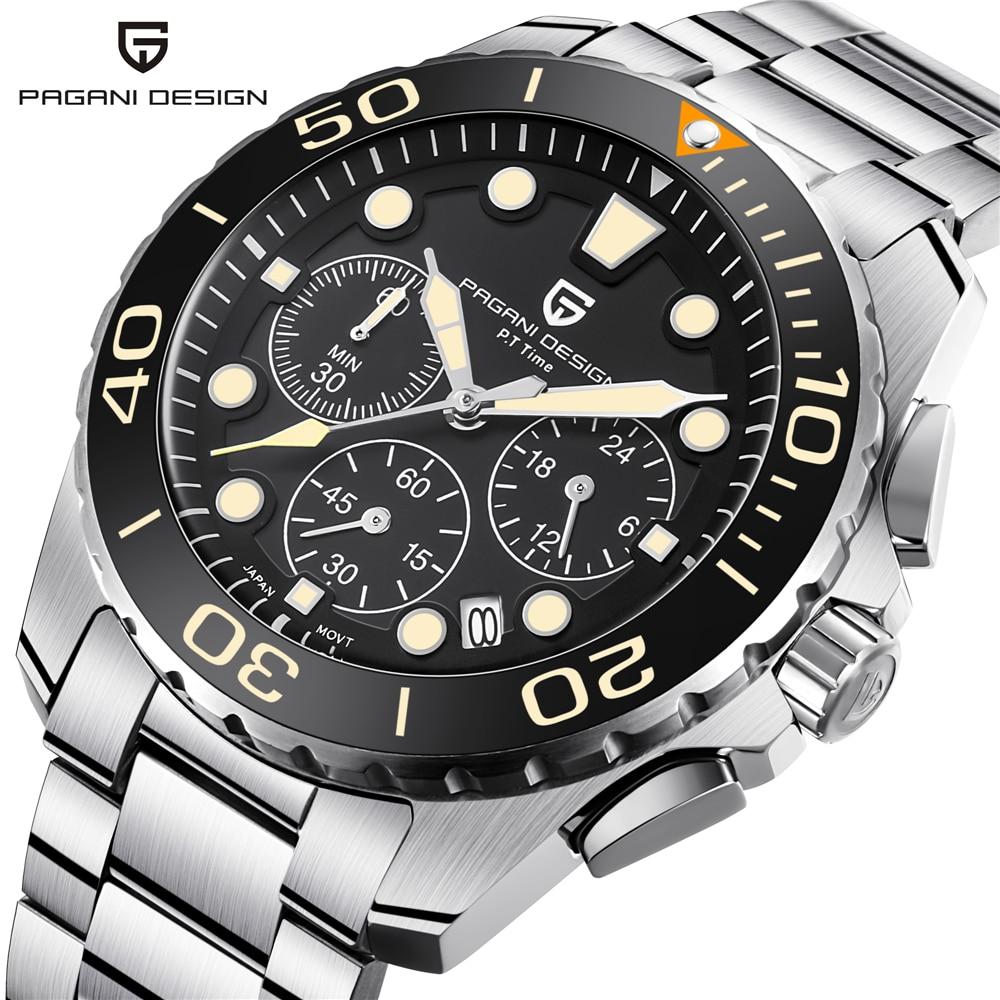 43 มม.Chronograph นาฬิกาแบรนด์หรูกีฬานาฬิกาผู้ชายสแตนเลสกันน้ำญี่ปุ่นควอตซ์นาฬิกาข้อมือ saati-ใน นาฬิกาข้อมือสตรี จาก นาฬิกาข้อมือ บน AliExpress - 11.11_สิบเอ็ด สิบเอ็ดวันคนโสด 1