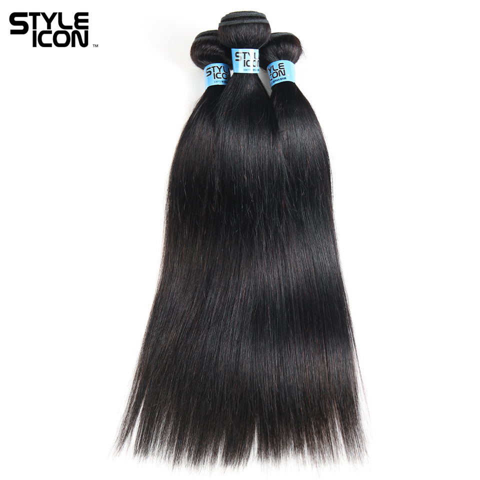 Styleicon Humain Hair Indian 3 Bundles Straight Hair Weave Pre-colored Human Hair Extensions Non Remy Hair Weft Free Shipping