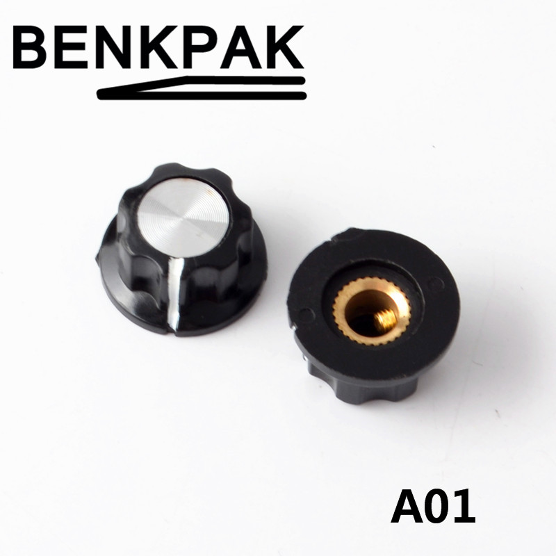 10pc MF-A01 or  A02 or A03 potentiometer knob knob cap bakelite knob
