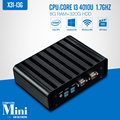 Mini pc 4010U I3 8 GB de RAM 320 GB HDD + WIFI Fanless Mini Computadores Desktop PC Fábrica De Teclado Com Fio Suporte Win 7 sistema