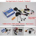 Car Parking Sensors + Rear View Back Up Camera = 2 in 1 Visual BIBI Alarm Parking System For Opel Astra F/ Corsa B / Vectra B