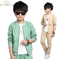 Teenager spring autumn kids clothes sets children casual 2 pcs suit jackets+pants baby set boys sport suit outwear 4-15Year L290