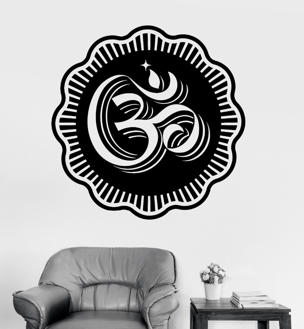 Removível Decoração de Casa Adesivos de Parede Decalque Da Parede do Vinil Decalques CW-14 Relaxtation Mandala Buda Meditação da Ioga