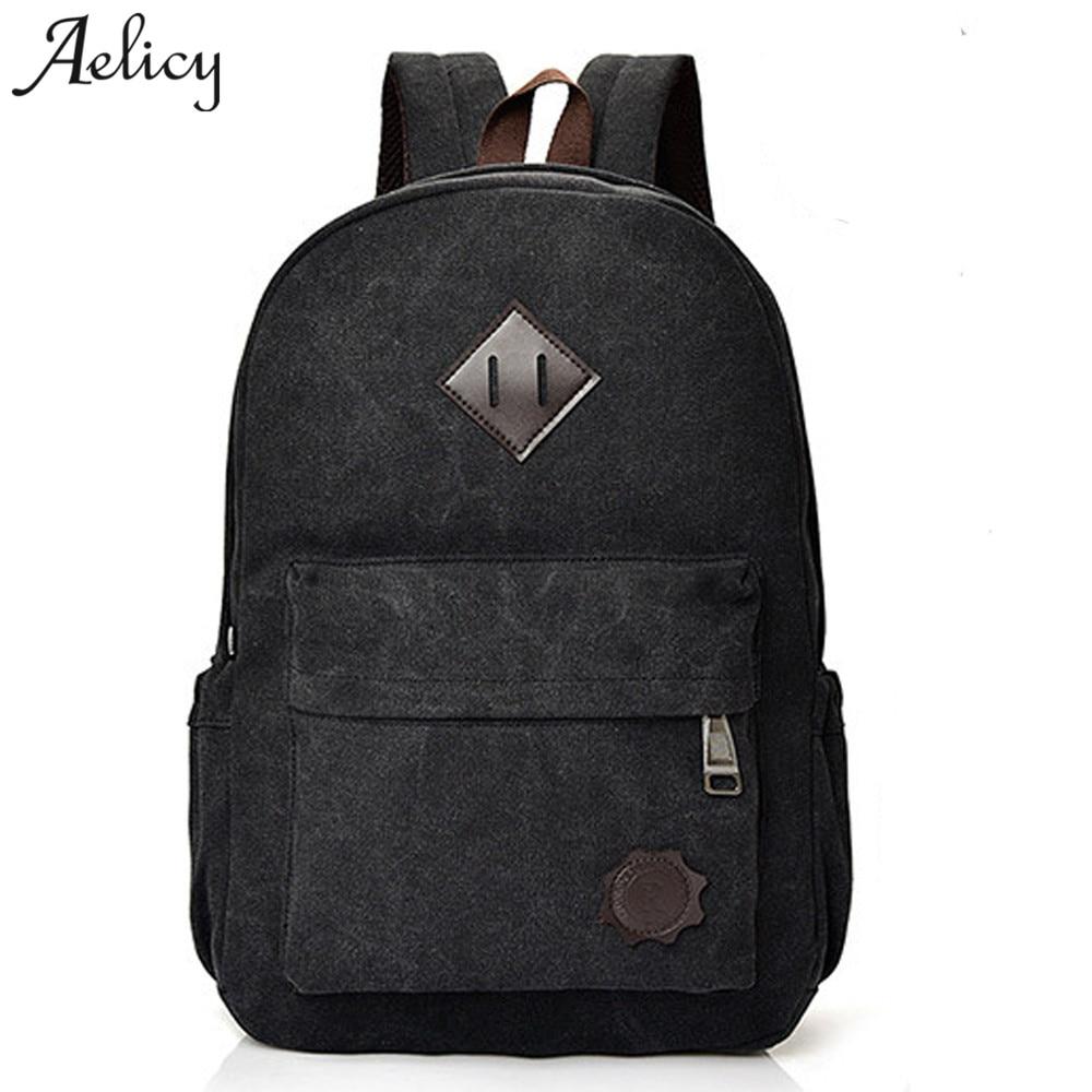 Aelicy 2019 Vintage Men Women Canvas Backpacks School Bags For Teenagers Large  Capacity Laptop Men Backpacks Mochila Masculina