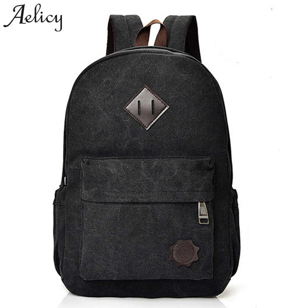 Aelicy 2019 Vintage Men Women Canvas Backpacks School Bags for Teenagers Large  Capacity Laptop Men Backpacks Mochila Masculina