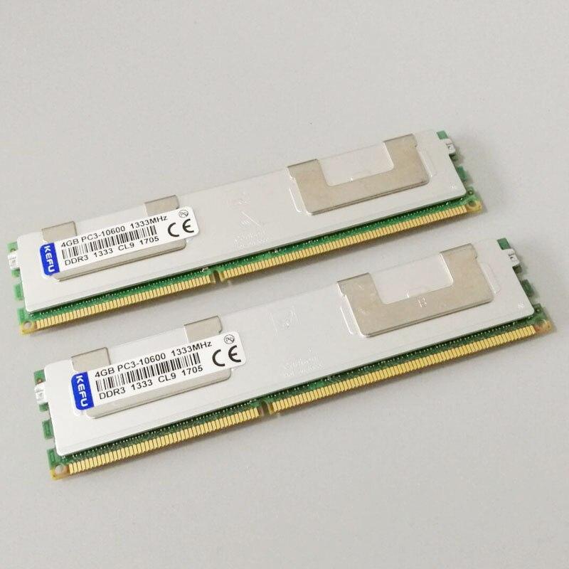 8 GB 2X4 GB PC3-10600R DDR3 1333 mhz RAM 2RX4 ECC mémoire REG enregistré sever mémoire 240 broches