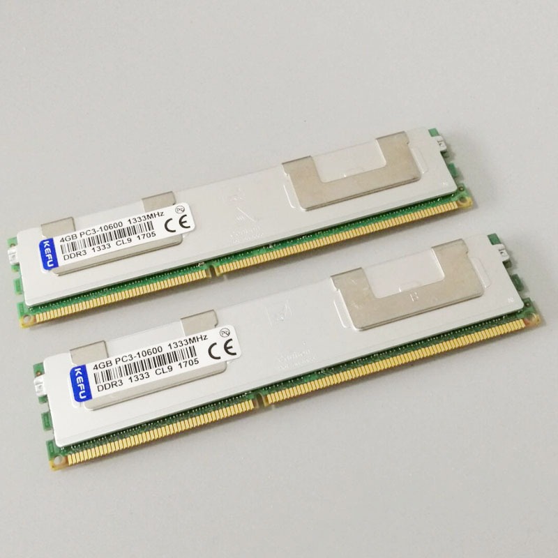 8GB 2X4GB PC3-10600R DDR3 1333mhz RAM 2RX4 ECC Memory REG Re