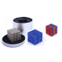 17 Kinds 5mm Neodymium Ball 216PCS Magnetic Puzzle NeoKub OF Magnetic Beads With Metal Box