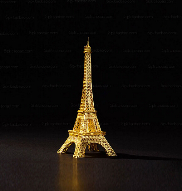 Eiffel Tower 3D Metal Puzzle For Adult Stainless Steel DIY Assembly Building Toy Model Educational Kids Toys For Boy