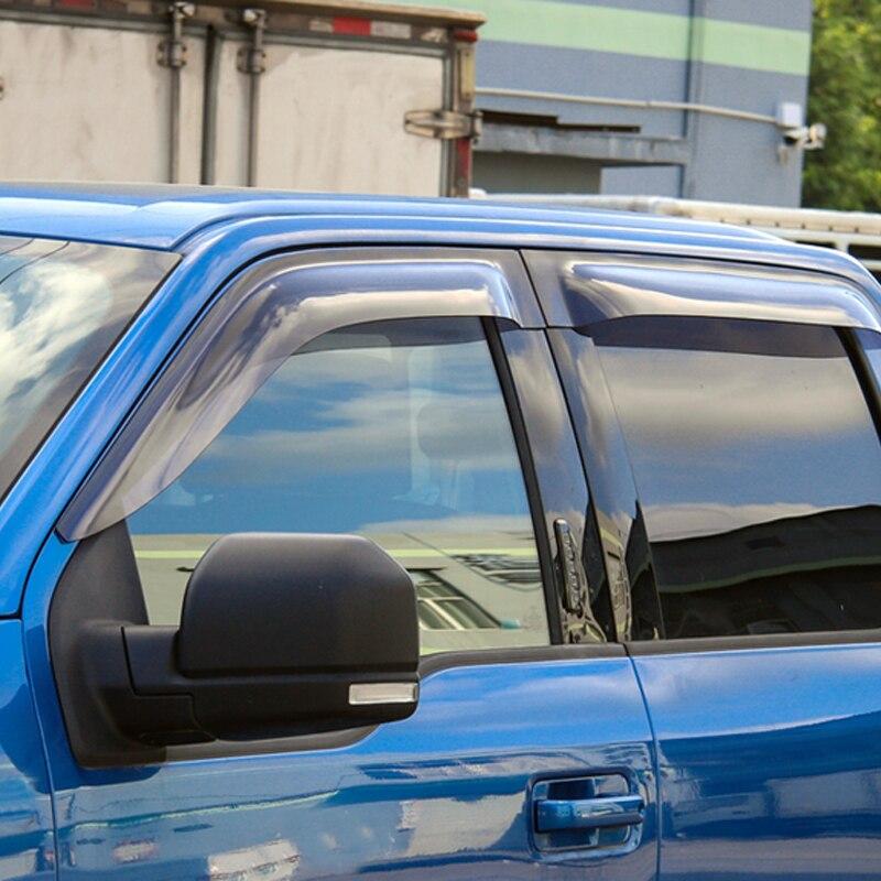 Visor Vents Shades Side Window Wind Sun Rain Guard Deflectors 4pcs For Ford  F150 F-150 2015-2017 380e4dfa64547