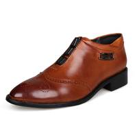 Men Genuine Leather Dress Luxury Shoes 2015 Famous Brands Oxford Flat Shoes For Men Zapatos Homme