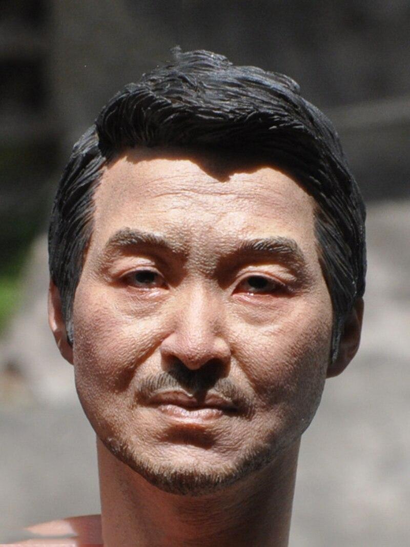 1/6 Échelle Asiatique Hommes avec Barbe Chef Sculpt pour 12 Pouces Corps Masculins Chiffres Poupées Accessoires Brinquedos Cadeaux Jouets