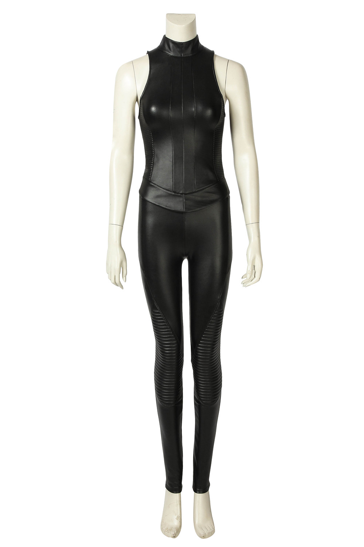 Alita Battle Angel Alita Cosplay Costume Black PU Battle Suit