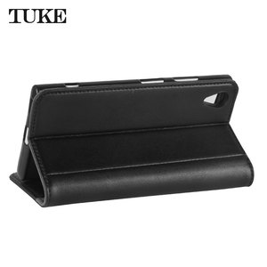 Image 4 - TUKE Genuine Leather Flip Case for Sony XA1 Plus Wallet Stand Cover For Sony Xperia XA1+ G3421 G3423 SM11L G3412 G3416 Phone Bag
