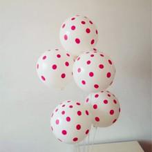 Wave point balloons 30pcs/lot12 inch 2.8g latex air ballon wedding decor baby birthday party balloon white red dot wholesale