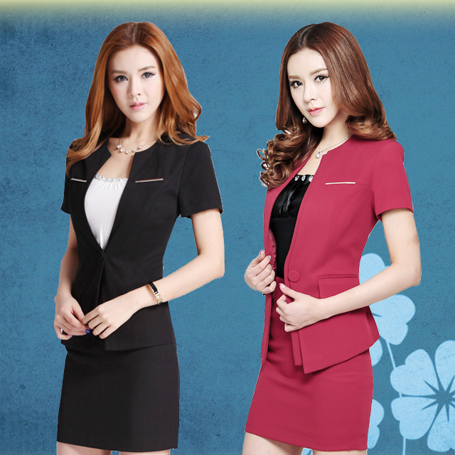 2014 summer women skirt suit fashion office ladies clothes formal suit  short slim sexy wearing high quality plus size XXXL  4XL a106b5d44