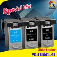 3X For PG 40 PG40 Black Inkjet Cartridge For Canon PIXMA IP2500 IP2600 MX300 MX310 MP160