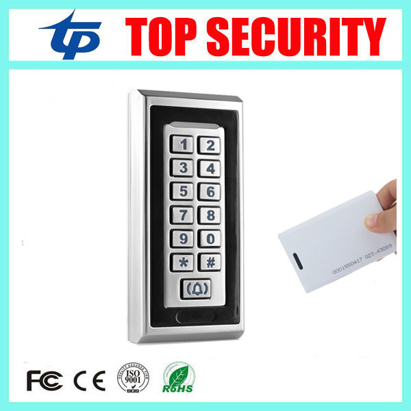8000 users metal case access control system surface waterproof 125KHZ RFID card access controller standalone ID EM card reader rfid ip65 waterproof access control touch metal keypad standalone 125khz card reader for door access control system 8000 users