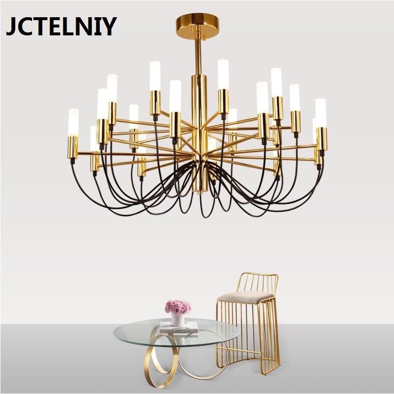 LED chandelier Nordic modern designer chandelier hotel restaurant living room creative personality art lighting adjustable 6 e27 heads nordic post modern designer originality personality art living bed room cafe fashion led chandelier home decor light