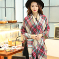 Top Quality!!! 2015 Womens Scarf Long Fashion Casual Warm Cashmere Shawl Plaid Scarf Knitted Scarf Women Winter Scarves