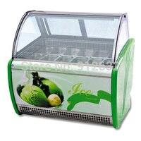 12 кастрюли 180l Мороженое витрина показа. Холодильные витрины