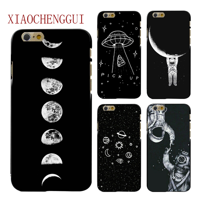 fashion space phone case for iphone 6 6s 7 8 plus 5 5s se x cutefashion space phone case for iphone 6 6s 7 8 plus 5 5s se x cute case planet moon star back cover hard pc for iphone 7 8 6