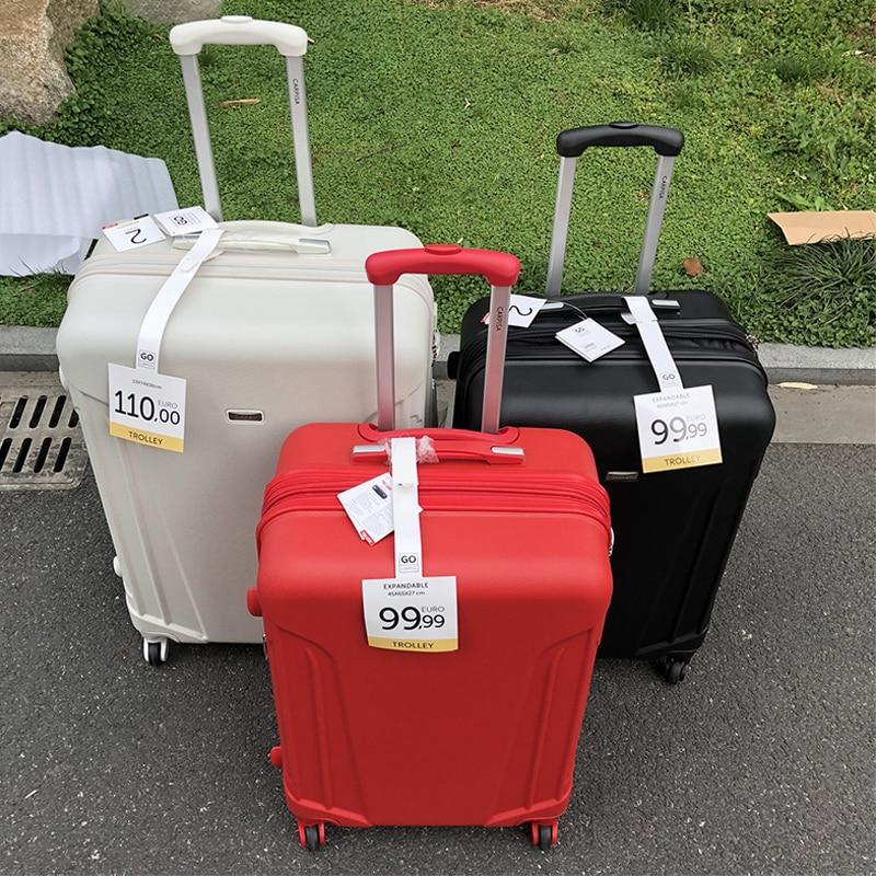 GraspDream men spinner cabin suitcase zipper frame traveling rolling luggage bags 20 24 28 inch women