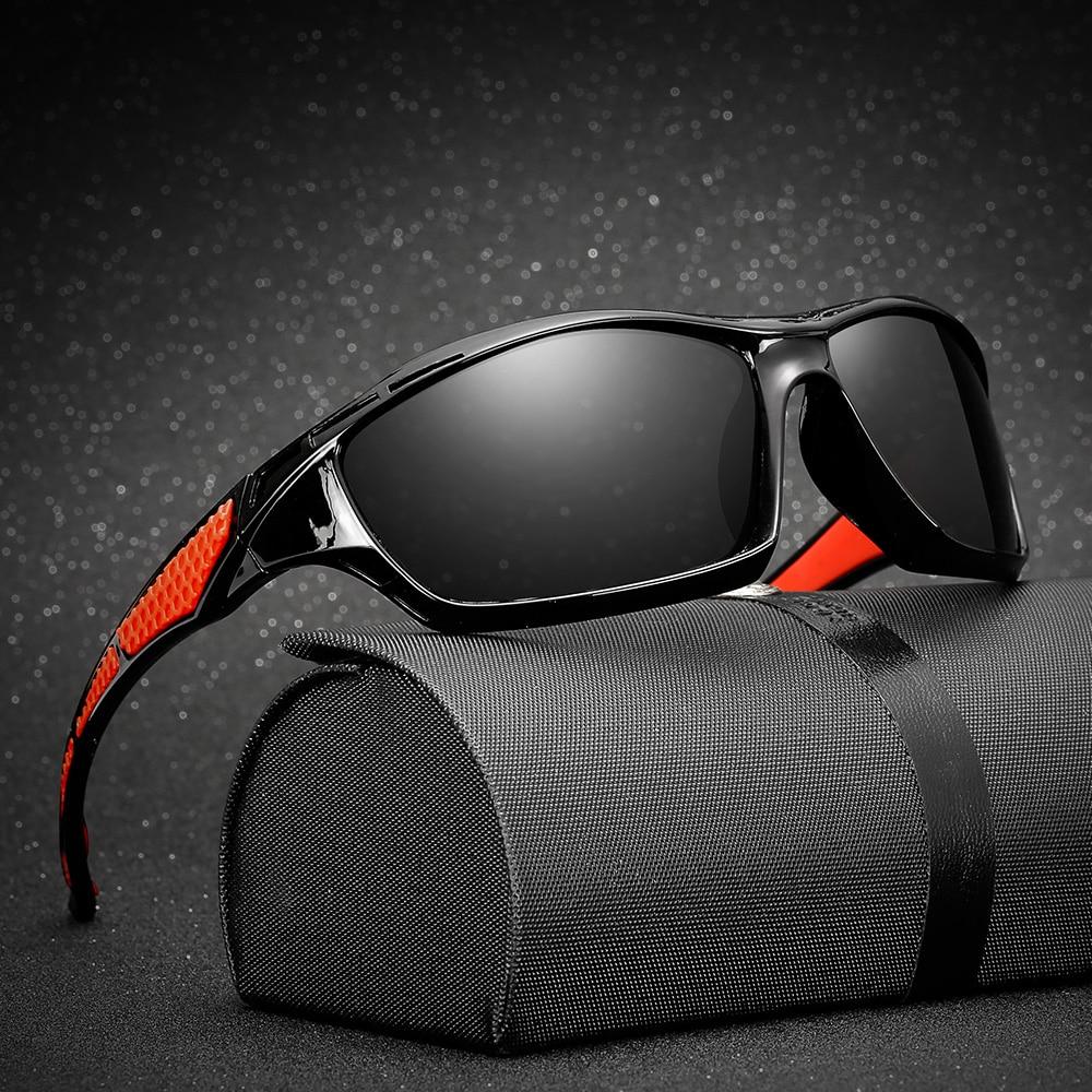 Купить с кэшбэком AIELBRO Men Women Sport Eyewear Polarized Fishing Glasses UV400 Protection Outdoor Cycling Hiking Driving Sunglasses