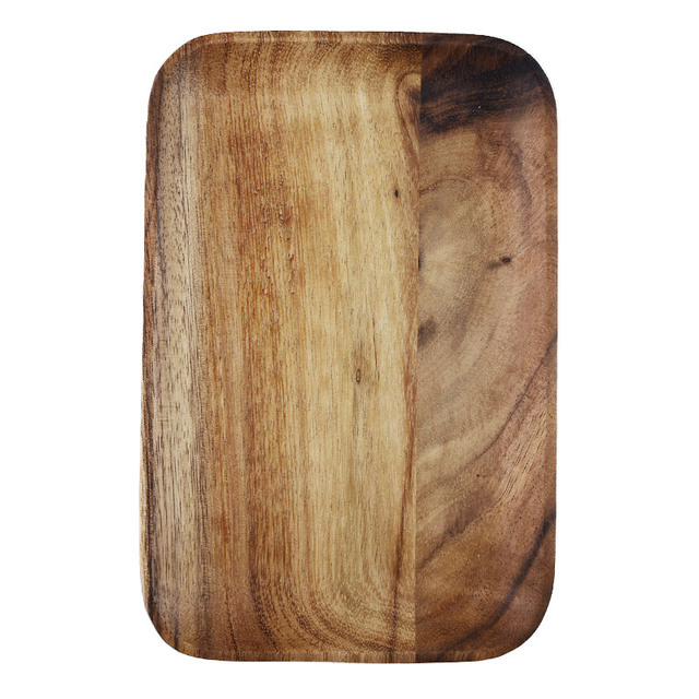 Japanese Acacia Wood Tray Solid Wood Disc Dim Sum Coffee Shop Tea Tray Fruit Plate Bread Plate Breakfast Plate 4