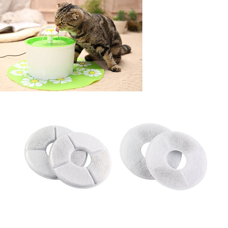 4pcs/lot Flower Water Fountain Filter Activated Carbon Special For Dog Cat Automatic Water Feeder Accessories Pet Feeder Filter