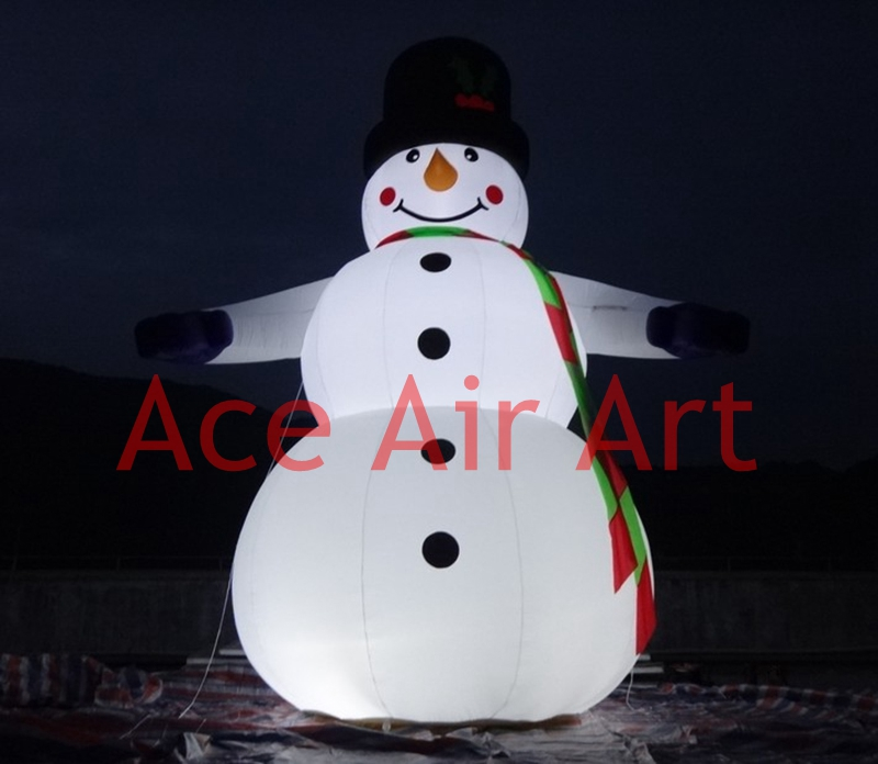 outdoor Christmas decoration inflatable Christmas snowman with beautiful  lighting(China (Mainland)) - Popular Lighting Snowman-Buy Cheap Lighting Snowman Lots From