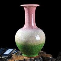 ceramics antique vase borneol crackle glaze of modern Chinese Home Furnishing decorated living room decoration