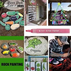 Image 4 - 12 24 Colors/Set STA Acrylic Permanent Paint Marker pen for Ceramic Rock Glass Porcelain Mug Wood Fabric Canvas Painting