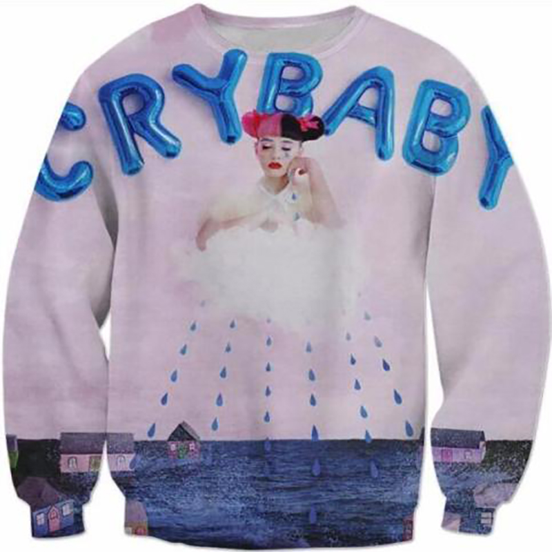 New Fashion Mens Womens Cry Baby Melanie Martinez Funny 3d