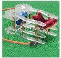 Acrílico Garra robô Manipulador Braço servos SG90 SNM200 pinça robô inteligente para arduino