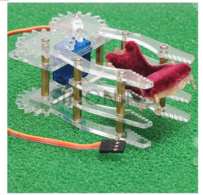 Acrylic robot Claw Manipulator Arm SG90 servos smart robot gripper for arduino SNM200