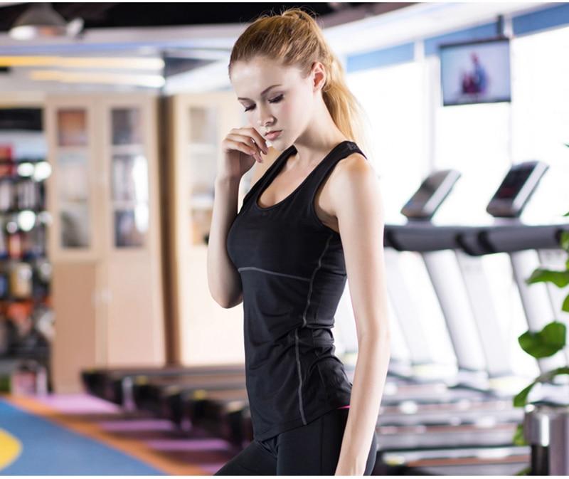 Women's Yoga Tops Sexy Gym Sportswear 11