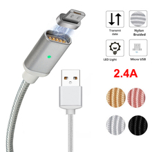 Micro USB Magnetic Magnet Adapter Cable Fast Charging Charger Cord For Samsung Galaxy S3 S4 S6 S7 Edge Note 5 4 2 Android Phone(China)
