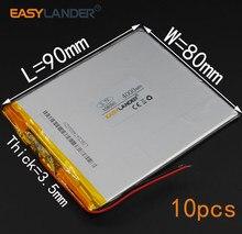 10 шт./лот 3,7 в 4000 мАч 358090 перезаряжаемый литий-полимерный литий-ионный аккумулятор для (7 8 9 дюймового планшетного ПК) Soulycin S18 PDA Onda V802