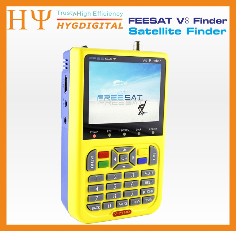 [Genuine]digital satellite finder FREESAT V8 finder DVB-S/S2 with 3.5 inch LCD better satlink ws-6933 ws-6906 satlink ws-6950 satlink ws 6906 dvb s fta digital satellite signal meter satellite finder supports diseqc 1 0 1 2 qpsk