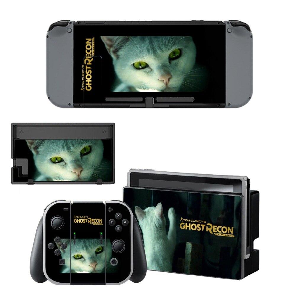 Купить с кэшбэком Tom Clancy's Ghost Recon: Wildlands Vinyl Skin Sticker for Nintendo Switch NS Console+Controller+Stand Holder Protective Film