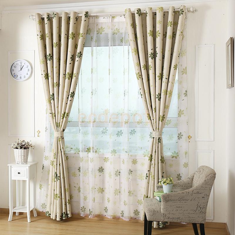 100x250 cm Moderne Blatt Muster Fenster Behandlungen Vorhang ...
