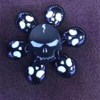 LED Lights Fidget Spinner White Tri Spinner Fidget Toy Fidgets Hand Spinner For Autism And ADHD