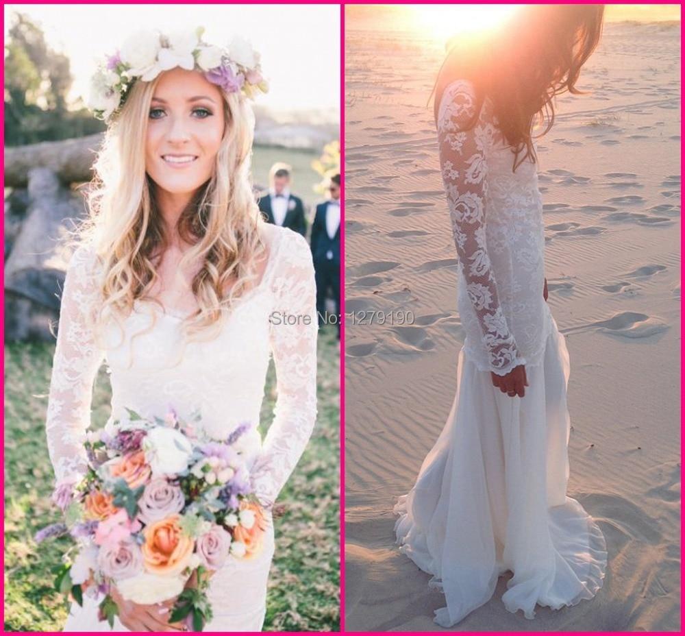 off the shoulder ivory vintage wedding vintage boho wedding dress Vintage Wedding Dresses lace Lacey zoom