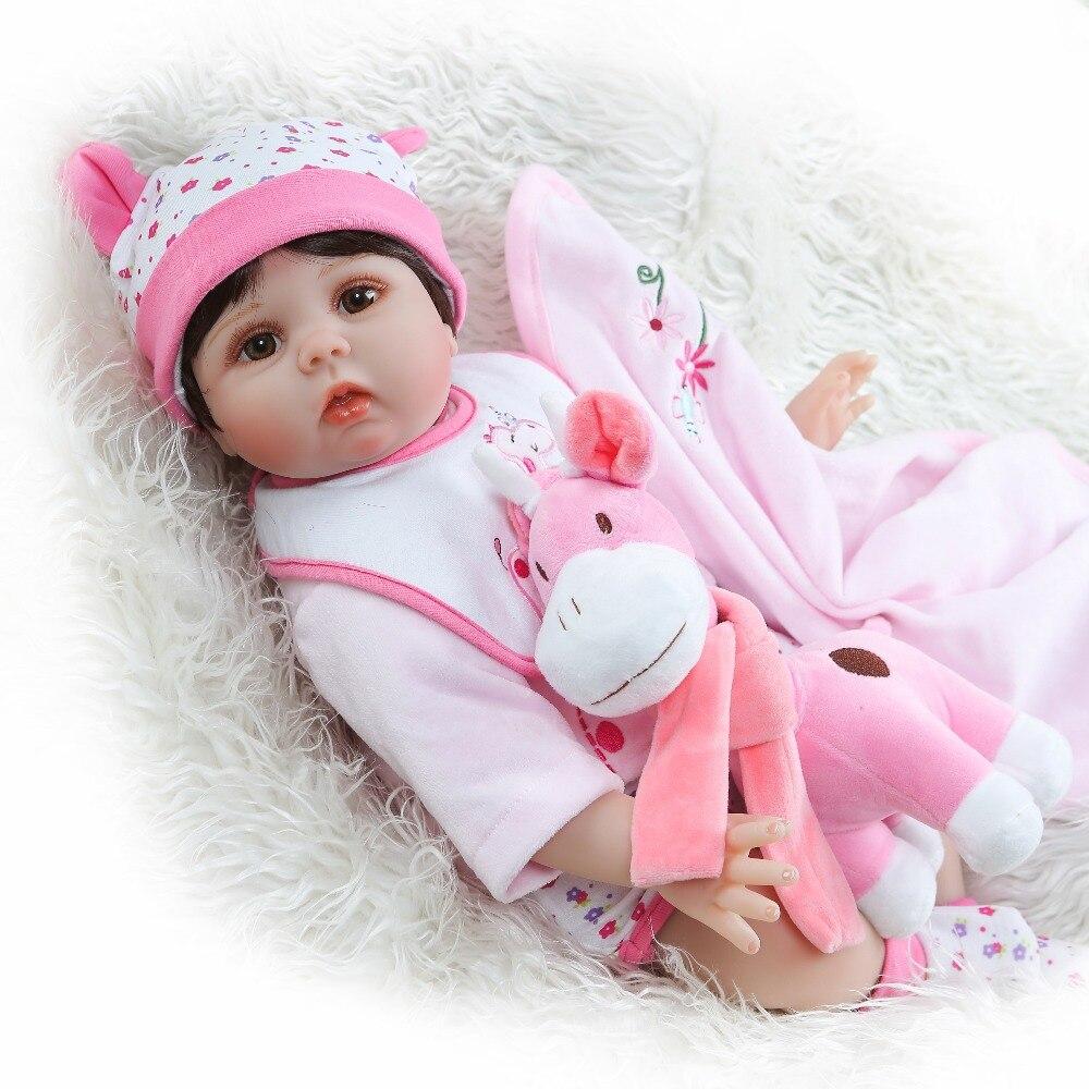 NPK 55 سنتيمتر لينة سيليكون تولد من جديد طفلة الصبي دميات لعبة منزل اللعب نابض بالحياة الوليد الرضع bebes تولد من جديد دمية Tos هدية ل فتاة-في الدمى من الألعاب والهوايات على  مجموعة 1