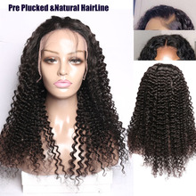 Malaysian curly hair Lace Front Human Hair Wigs Remy