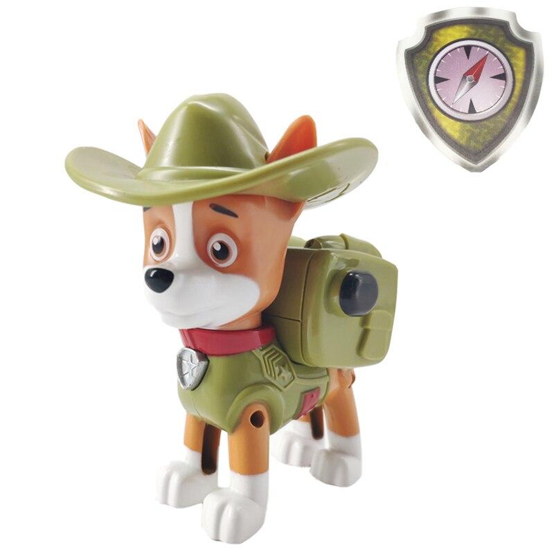Paw Patrol Jungle Rescue Tracker Deformation Dog PVC Anime  Action Figure Model Toys Child Birthday Xmas Gift