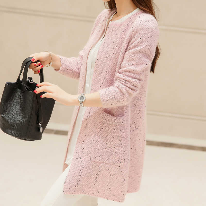 ... New Spring 2019 Women Sweater Cardigans Casual Warm Long Design Female  Knitted Sweater Coat Cardigan Sweater ... 6ce7ecd44